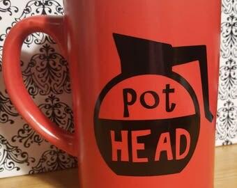 Pot Head Red Mug