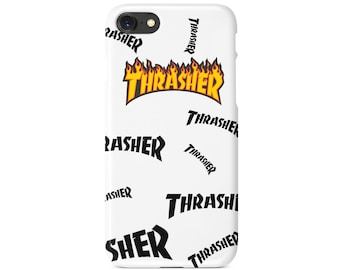 Thrasher Magazine Flames Splatter Skate Phone Case | iPhone 6 6s 7 7+ 8 8+ X | Samsung Galaxy S6, S7, S7 Edge, Note 7 | MadeinQnz USA