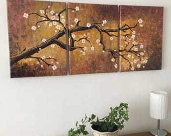 Branch - original abstract acrylic painting on canvas