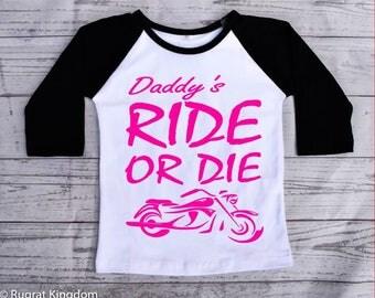 Daddy's Ride or Die Toddler Shirt, Toddler Shirts, toddler tshirt, toddler raglan shirt, raglan tee, kids raglan