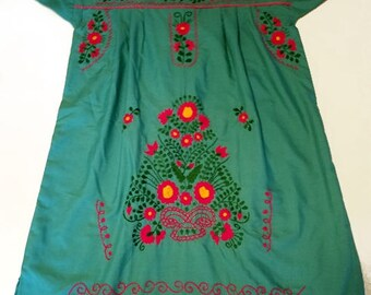Medium - Teel (Short/Above Knee) Mexican Dress