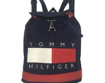 Vintage Tommy Hilfiger Big Logo Backpack FreeShipping.