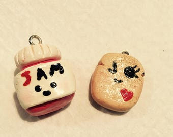 Kawaii Jam and Kawaii Toast friendship charms