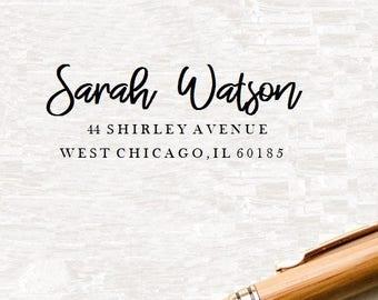 Custom Name Stamp, Personal Address Stamp, Custom Address Stamp, Return Address Stamp, Custom Rubber Stamp, Wedding Stamp,  Ink Stamp ( S34)