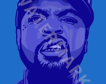 Ice Cube Digital Art