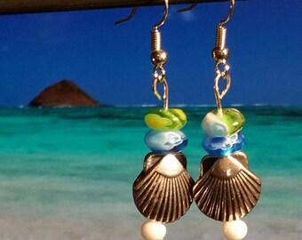Green & Blue Sea Shells