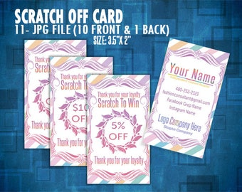 Scratch Off Card, Scratch to Win, Prize Cards, Direct Sales Inspired, Personalized, Digital card