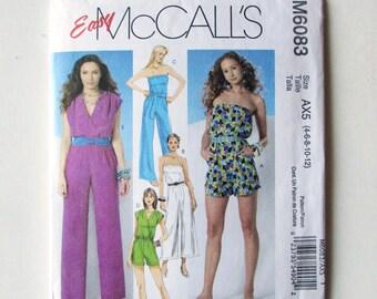 Woman's Jumpsuit, Strapless, Shorts, Capris McCall's  Pattern M6083, Uncut