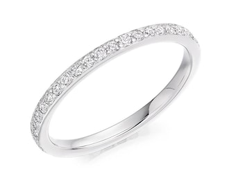 1.8 mm Pave Set Full Eternity Diamond Ring 18 ct Gold