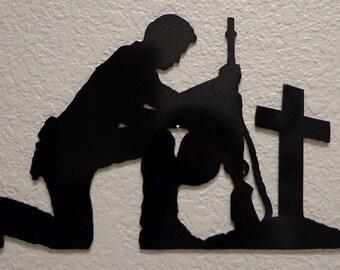 Praying Soldier Wall Art