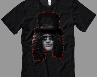 Slash Head T Shirt Slash Guns and Roses Guitarist- Decals-T Shirts- Long Sleeves-Tanks-Sweatshirts-Hoodies-Youth-Womens-Mens-up to 5XL
