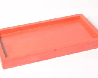 Fire red tray for 3-soap dish