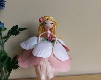 Pink Petal Fairy Doll