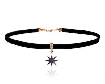 Noble Chocker Black Cubic Zirconia star