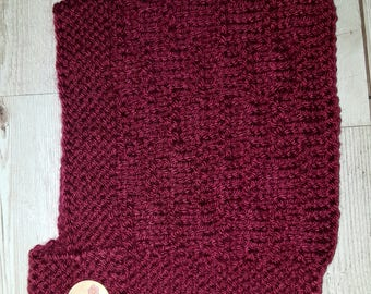 Cute Hand Knitted Pixie Bonnet 6-12 Mulberry