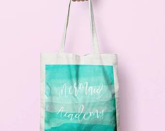 SUMMERSALE Mermaid Academy Market Shopper Tote Bag