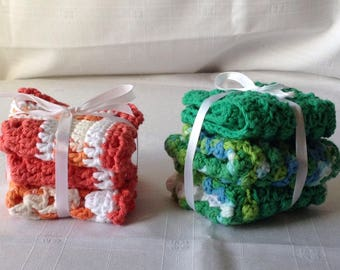 Crocheted dishclothes