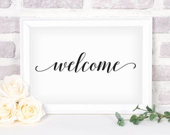 Printable Welcome Sign. Bridal Shower Sign. Wedding Sign. Welcome Sign