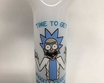 Rick and Morty hand Pipe - Rick Lets get wrecked son!