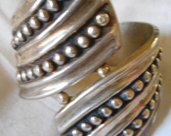 Sterling Silver Hinged Vintage Bracelet