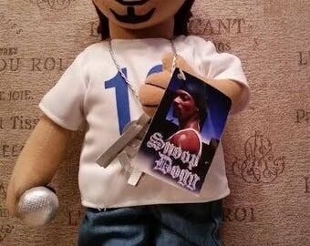 Kitschy plush Snoop Dogg doll