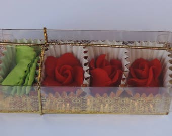 Cake Craft -Red Roses (pack of 3)