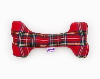 Purplebone Tartan Bone Dog Toy
