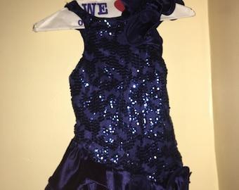 Navy Blue Dance Costume