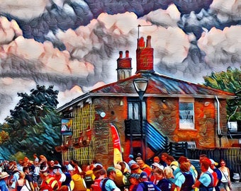 The Cottage Pub graffiti style art giclee print limited edition by Jenson