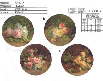70450-A Minimum order 100.00 Euro. Ceramic decals. Pattern selection.