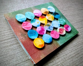 Hello - Color Splat Handmade Card
