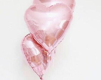 Rose Gold Heart Balloon set