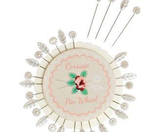 30 leaves flowers heads sewing pins