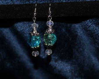 Blue Dangle Earring