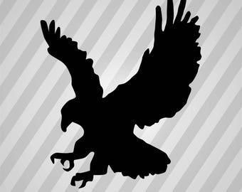 Eagle - Svg Dxf Eps Silhouette Rld RDWorks Pdf Png AI Files Digital Cut Vector File Svg File Cricut Laser Cut