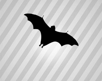 Bat Silhouette Flying Fox - Svg Dxf Eps Silhouette Rld RDWorks Pdf Png AI Files Digital Cut Vector File Svg File Cricut Laser Cut
