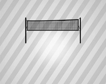 volleyball net Silhouette - Svg Dxf Eps Silhouette Rld RDWorks Pdf Png AI Files Digital Cut Vector File Svg File Cricut Laser Cut