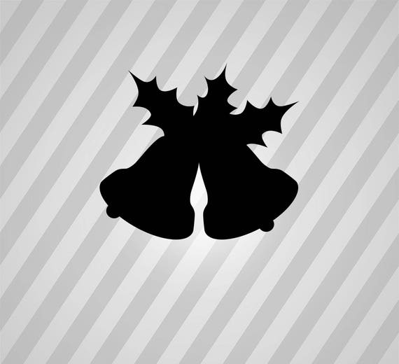 Christmas Bells Silhouette Holly Svg Dxf Eps Silhouette Rld