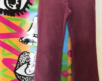 Portmans Vintage Straight Cut Pink Corduroy Pants