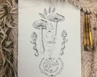 Mother of Fungi (print)