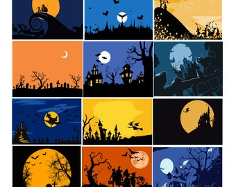 Halloween #1 Svg/Eps/Png/Jpg/Cliparts,Printable, Silhouette and Cricut File !!!