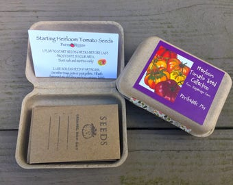 Heirloom Tomato Seed Collection - Psychedelic - 10 Varieties, Free Basil Seeds! Gardening Gift