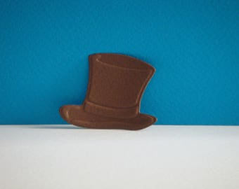 Cut man Brown Bowler Hat