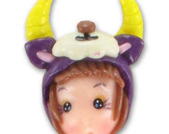 1 pendant doll Capricorn fimo 23 mm in height