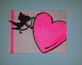 Colorful painting love Cupid and customizable special Valentine's day collection