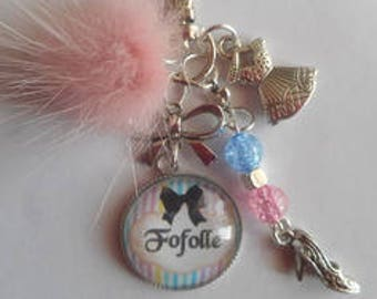 "Keychain bag charm / ""Dippy"" / gift / party/birthday"