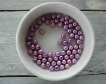 Set of 60 Pink/Purple pearls