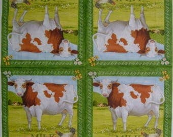 Cow pattern napkin