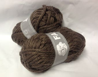 knit - wool / set of 10 balls / over-sized/Brown/made in FRANCE