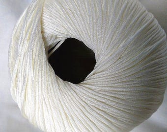 10 balls of yarn 100% shiny silk - made in France /laine